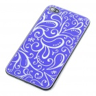 Elegant Replacement Metal + Plastic Back Cover Housing Case for iPhone 4 - Deep Blue