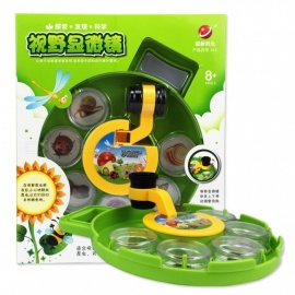 Scientific Exploration Children\'s Field Of Vision Microscope Experimental Teaching Aids Insect Plant Microscope Viewer Green