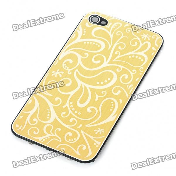 Elegant Replacement Metal + Plastic Back Cover Housing Case for iPhone 4 - Yellow