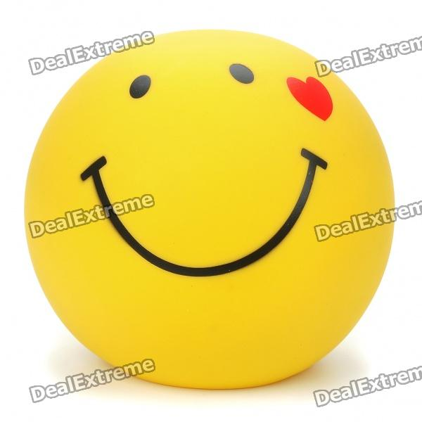 Smile Face Style Coin Bank - Yellow cute smile face expression round erasers yellow 4 piece random style