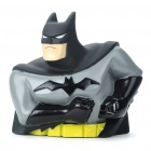 Bat Man Figure Toy Coin Bank - Black + Grey
