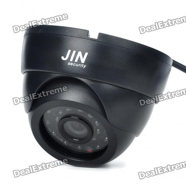 1/4 Sharp CCD Surveillance Security Camera with 24-LED Night Vision - Black (DC 12V) mini cmos surveillance security camera with 24 led night vision black dc 12v