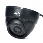 1/4 Sharp CCD Surveillance Security Camera with 24-LED Night Vision - Black (DC 12V)