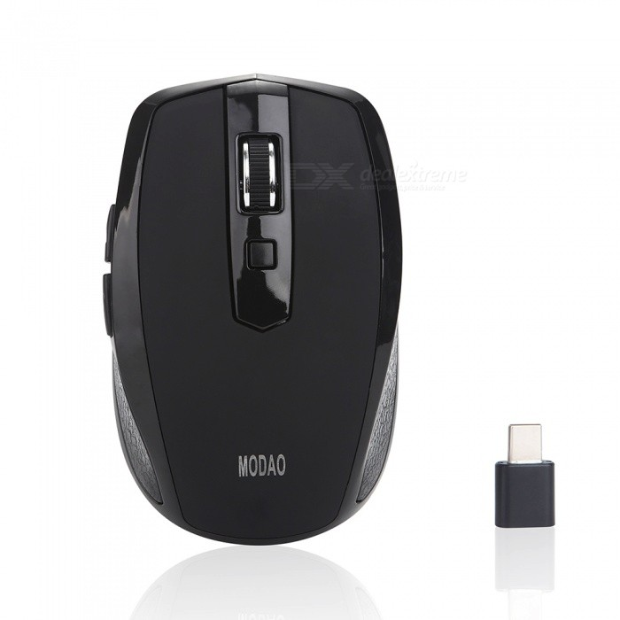 MODAO 2.4GHz Wireless Mouse with Type C USB C Receiver for Macbook
