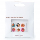 Paul Frank Cartoon Figure Pattern Home Button Stickers for iPhone 4/3GS/iPad (6-Piece Pack)