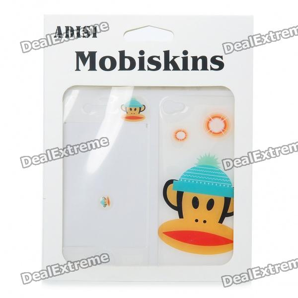 Fashion Paul Frank Style Protective Skin Stickers for iPhone 4 - White
