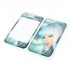 Fashion Lady Gaga Style Protective Skin Stickers for iPhone 4