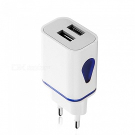5V 2.1A Dual USB Port Travel Charger Wall Adapter for IPHONE / Huawei / Samsung / Xiaomi