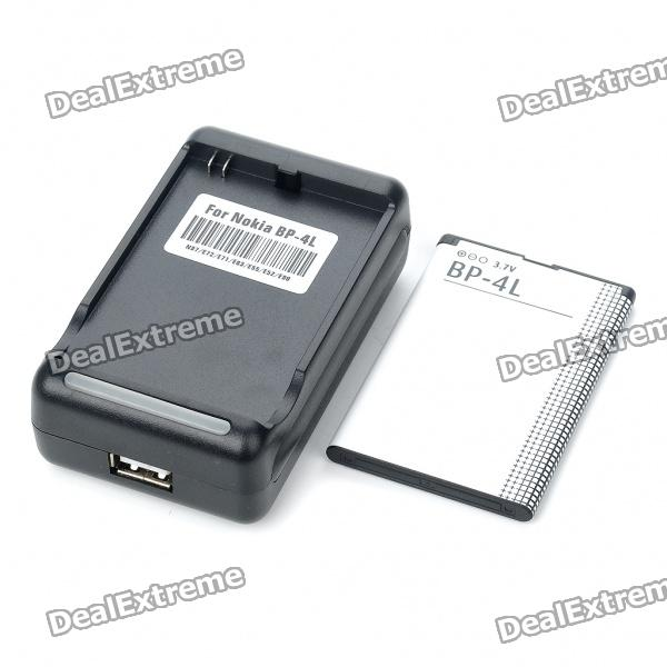 USB/AC Battery Charging Cradle + 1500mAh Battery + EU Adapter for Nokia N97/E71/E72/E63/E52 nokia e71 tv деш вый бу