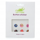 Fashion Cute Home Button Stickers for iPhone 3G/4 (Assorted Style/6-Piece Pack)