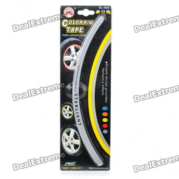 Car Wheel Decorative Color Rim Tape - Silver (28-Piece Set)