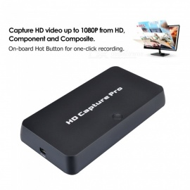 1080P HDMI HD Video Capture Card, HD Game Capture Pro Recorder Box for PS4/3 Xbox One/360 WiiU HDTV Set Top