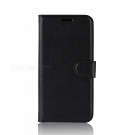 PU Leather Full Cover Wallet Phone Case for Oukitel K5 - Black