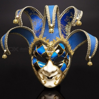 Halloween Mask High-grade Bell Restoring Ancient Ways Of  Venetian Masquerade Party Masks Black