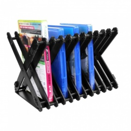 Universal Game Disc Storage Rack Shelf For PS4/PS4slim/PS3/PS2/XBOX ONE S/XBOX360 Black
