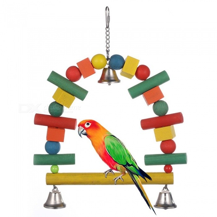Small Toy Parrots : Pet parrot bird toys hanging toy nest suitable for