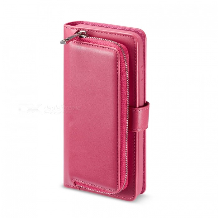 10a33c3b7c23 Measy PU Leather Wallet Clutch Purse with Detachable Case, Card Slots and  ZIP Pouch Cover for IPHONE XS Max