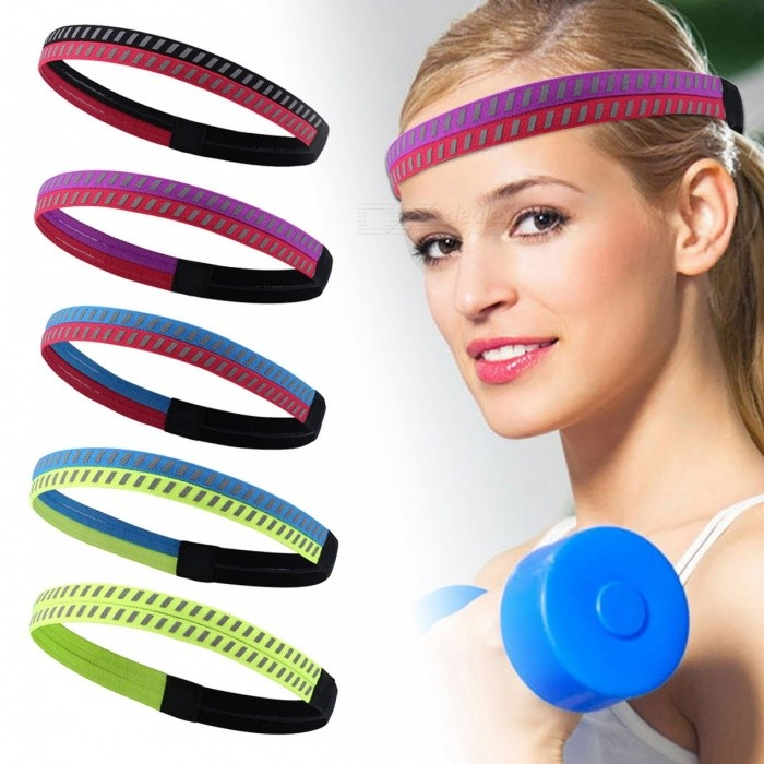 bb911a2c5c55 Outdoor Sports Running Fitness Yoga Headband Anti-slip Silicone Reflective Head  Band For Men Women