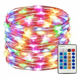165ft 500 LED String Lights Copper Wire LED Lights Dimmable with Remote Control, Waterproof Fairy Lights Outdoor