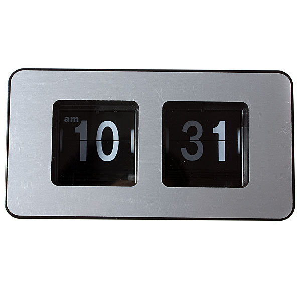 Flip Digit Desktop Clock ( musta )