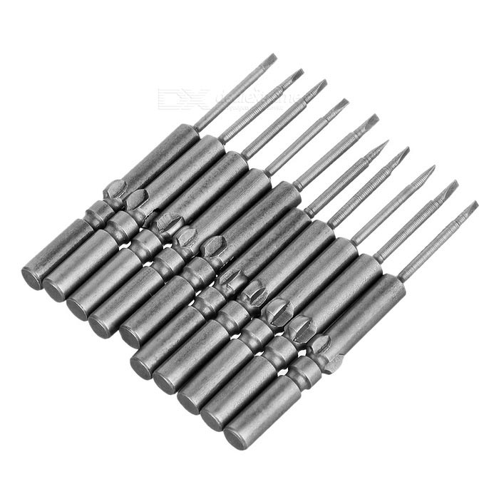 5 x 60 - 2.0 Slot Screw Driver Interchangeable Tips (10-Pack)