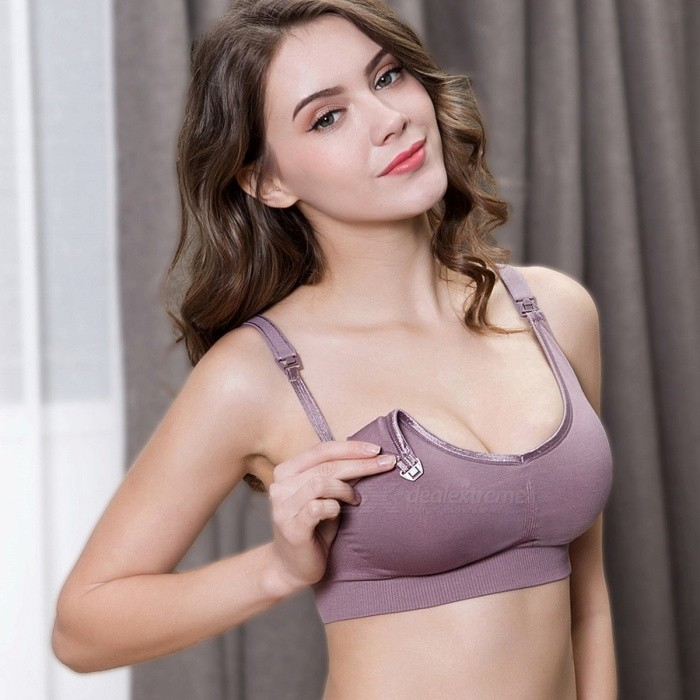 e3194af0ad7 Wire Free Pregnant Bra Nursing Breastfeeding Maternity Bra Front Open  Buckle Spandex Underwear Free Size Gray One Size 32 - Free shipping -  DealExtreme
