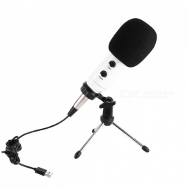 JEDX USB Microphone MK-F600TL Studio Professional Condenser Wired Microphone With Stand For Karaoke Video Recording PC