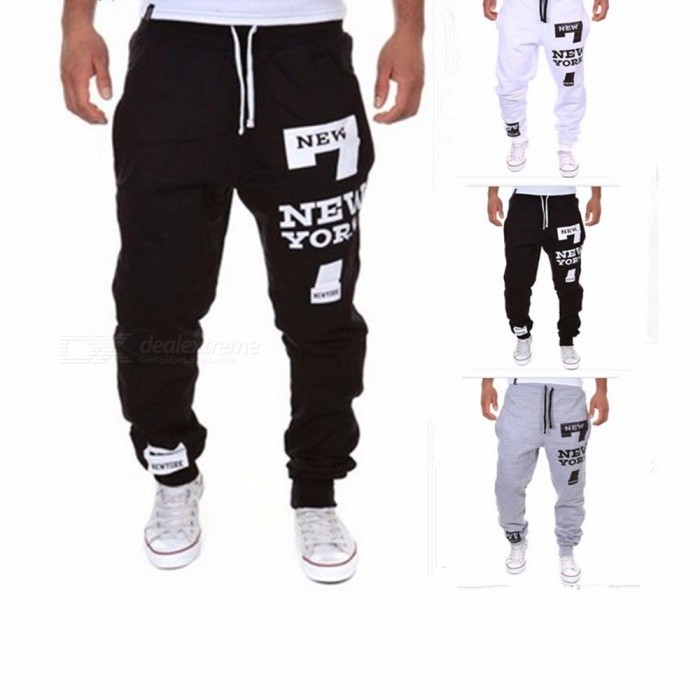 Print Xg13k03 Letter Waist Pants Dark Loose Running Elastic Feet Sports Harem Men's Training Trousers Greyxxl Casual Fitness 8knOP0Xw