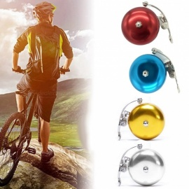 Cycling Bicycle Handlebar Aluminum Alloy Ring Bike Bell Sound Alarm Protective Bell Rings Bicycle Accessories Blue