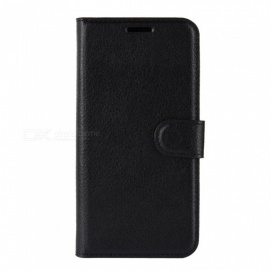 PU Leather Full Cover Wallet Phone Case for Cubot J3 - Black