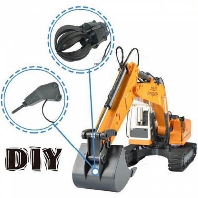 ESAMACT 2-in-1 RC Remote Control Car Excavator Truck, Rechargeable Electric Engineering Vehicle Toy