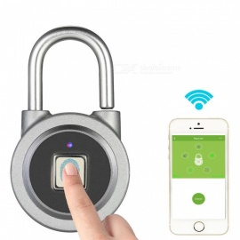 ESAMACT Fingerprint Smart Keyless Lock,Waterproof APP Button Password Unlock Anti-Theft Padlock Door Lock for Android iOS System