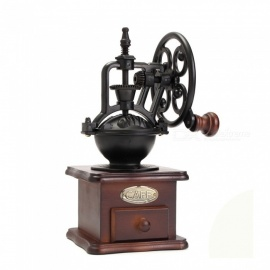 ZHAOYAO Ferris Wheel Vintage Manual Coffee Grinder With Ceramic Movement Retro Wooden Coffee Mill Coffee Bean Grinding Machinen