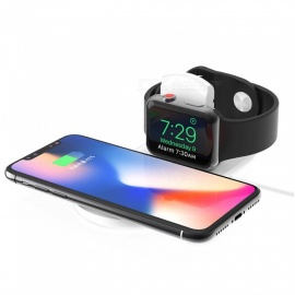 2 in 1 Fast Qi Wireless Charger for iPhone X / 8 Plus / XS Max / Apple Watch Series 4/ 3 / 2