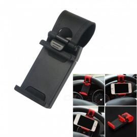 ESAMACT Universal Car Steering Wheel Clip Mount Holder for IPHONE 8 7 7Plus 6 6s Samsung Xiaomi Huawei Mobile Phone GPS