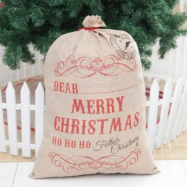 JEDX Creative Claus Santa Christmas Drawstring Cloth Bag