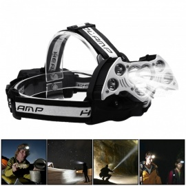 7LED Headlights 5T6+2XPE Red Light USB Multi-function Night Fishing Lights Glare Long-range Charging Head-mounted Headlights