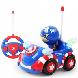 ESAMACT Captain America Q Version Remote Control Car Small Toy Cartoon Anime Children Electric Remote Control Car