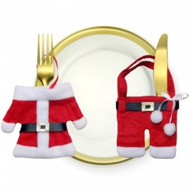 JEDX Christmas Decorations Christmas Cutlery Kit Christmas Cutlery