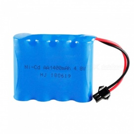 4.8V 1400mAh Ni-cd 4*AA 1.2V Rechargeable Battery with SM Plug for RC Cars Boats