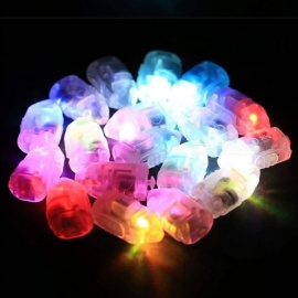 10Pcs LED Flash Lamps, Paper Lantern Balloon Lights For Casamento Baby Shower Wedding Decoration Green