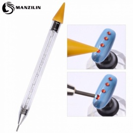 Luxury Nail Jewelry Crayons Point Pen Nail Paste Stick Crayon Hole Point Drilling Tools Clear