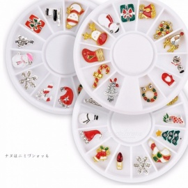 Christmas Series Snowflake Gift Nail Art Jewelry Decoration Turntable Accessories White