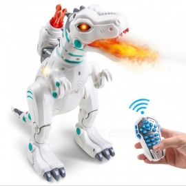 ESAMACT RC Remote Control Robot Dinosaur Toy, Rechargeable Intelligent Programmable Dinosaurs with Fire