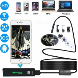 ESAMACT Wifi Smart Phone Endoscope Camera 1200P HD 8mm Android IOS Borescope Waterproof Hard Tube Inspection Endoscope Camera