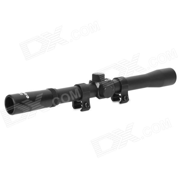 4*20 Rifle Scope w/ Two Protective Covers for the Lens - Black