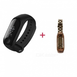 Original Xiaomi Mi Band 3 Chinese Version And Stainless Steel Wristband