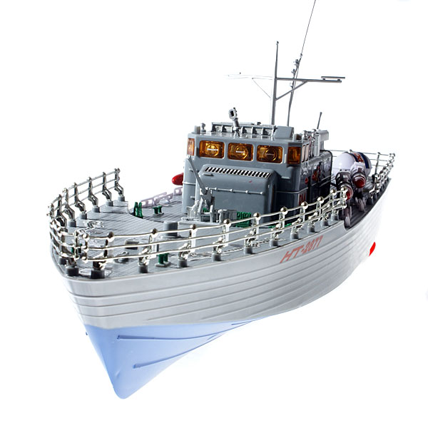Dual Propeller 2-CH R/C Warship (Rechargeable Boat) - DXOther R/C Toys<br><br>