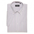 Fine Oxford Dress Shirt Blue/Red Stripes (Size-44)