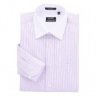Contrast Collar Long Sleeve Shirt Lavender/White Stripe (Size-44)
